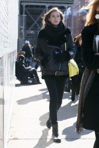 black shearling jacket, women sheepskin jacket,