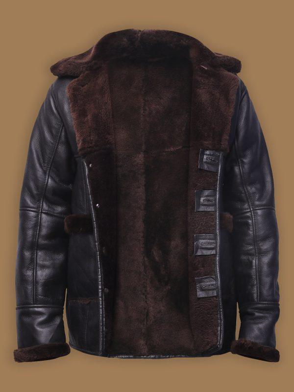 shearling leather jacket for men