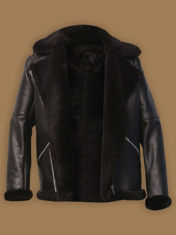 men b3 shearling leather jacket