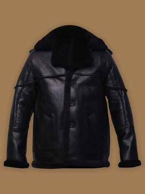 men black shearling jacket