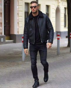 men black b3 shearling jacket, b3 shearling jacket,
