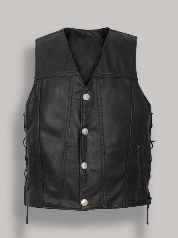 men pure black vest