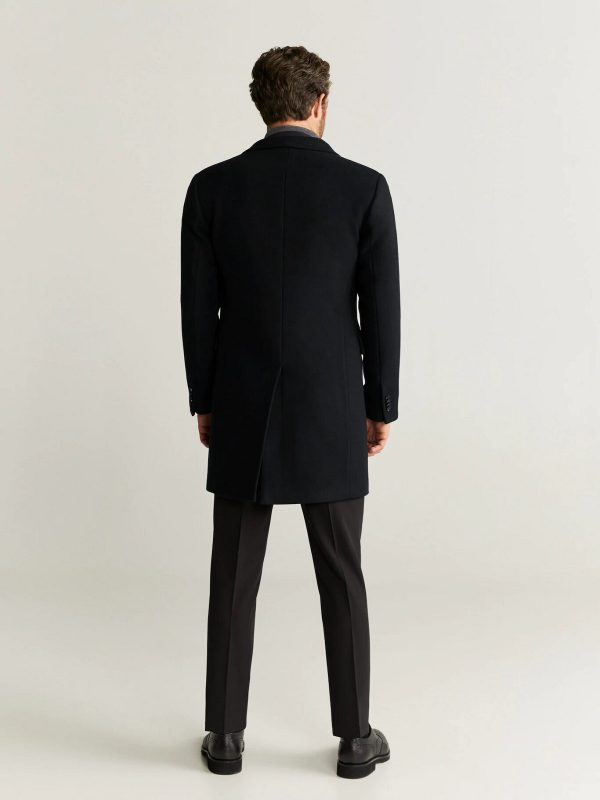 stylish men black coat