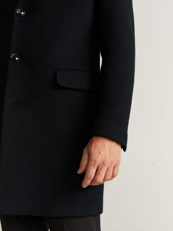 trending men blac kwool coat