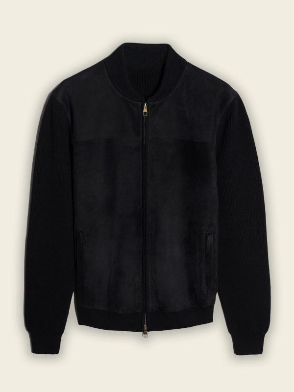 trending men black bomber jacket
