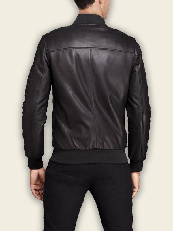 men biker bomber leather jacket