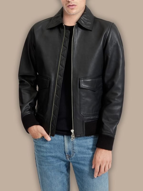 men biker bomber jacket