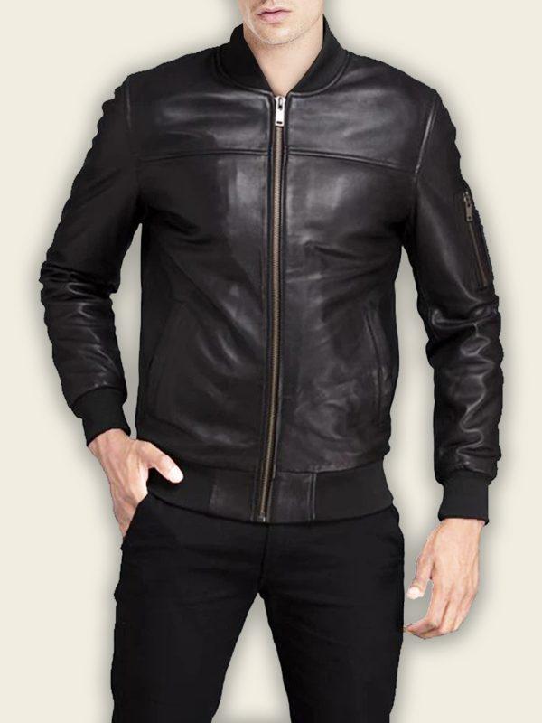 biker bomber jacket for men
