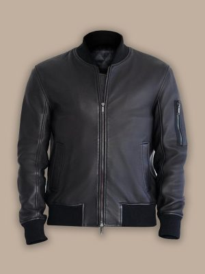 bomber jacket with side pocket for men