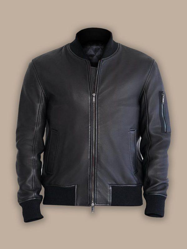 bomber jacket with side pocket for men