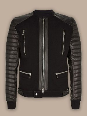 biker bomer leather jacket for men