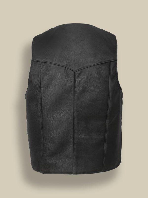 men jet black vest