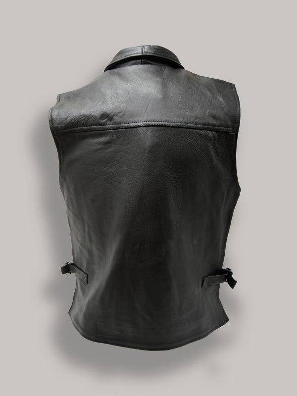 men pitch black vest
