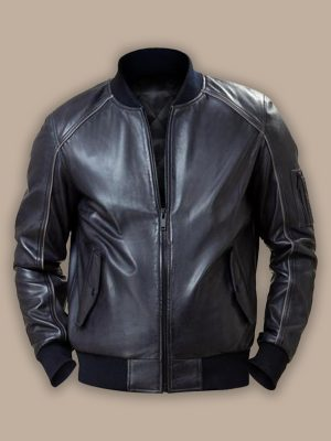 men black bomber jacket