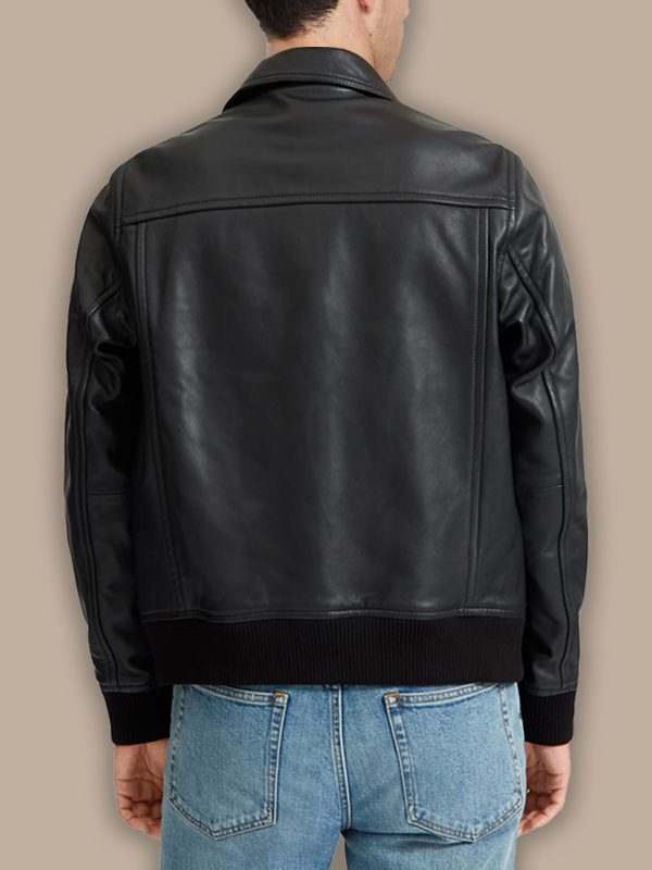 trending men black bomber jacket