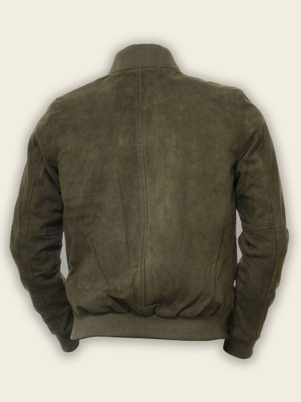 men olive green bomber jacket