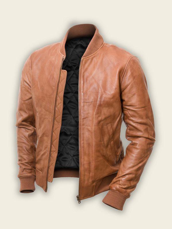 men tan brown bomber jacket