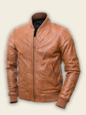trending brown bomber jacket