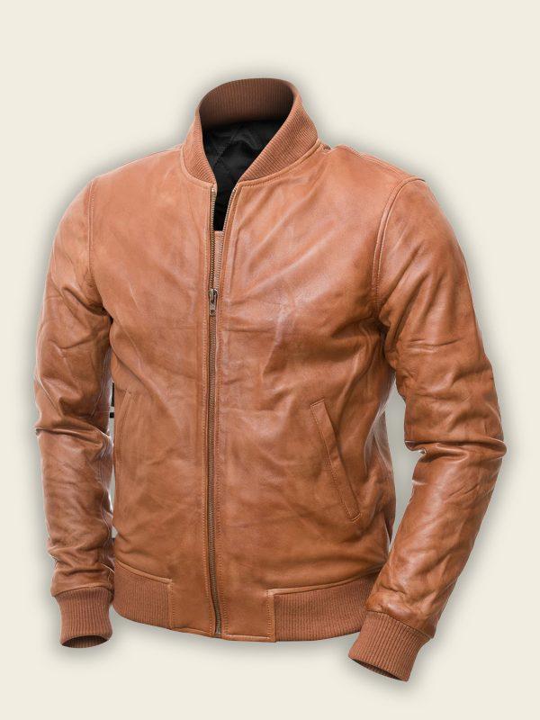 trending brown bomber jacket