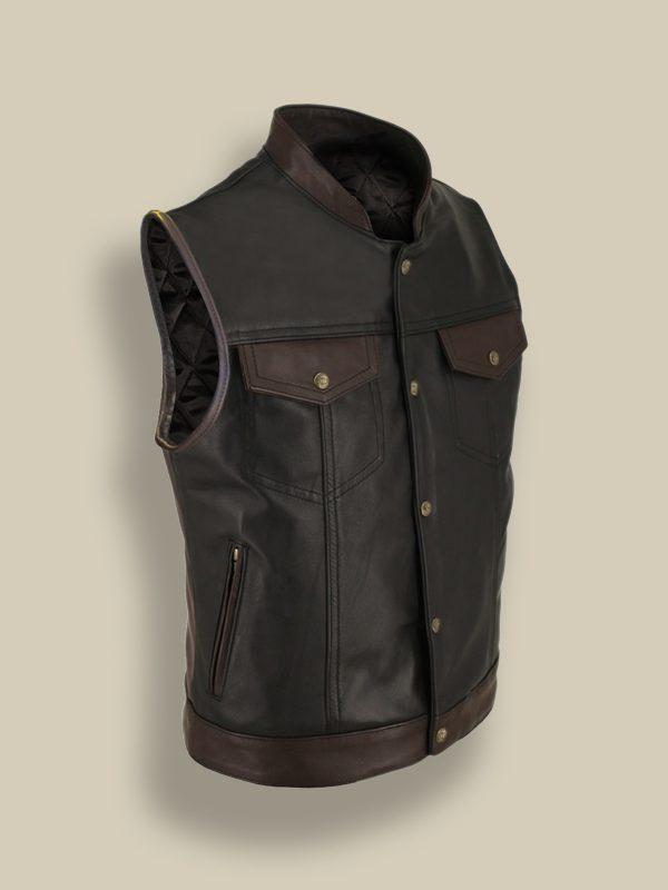 men trending leather vest