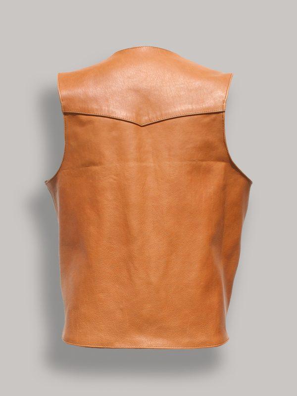 trending men brown leather vest