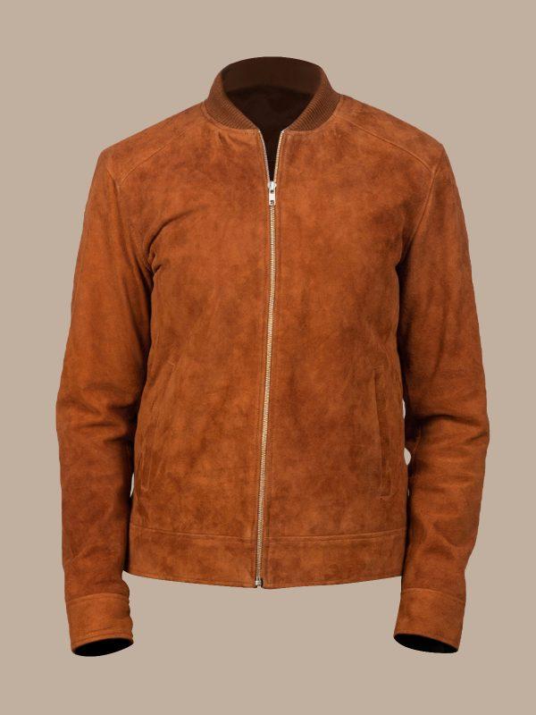 trending men brown suede jacket