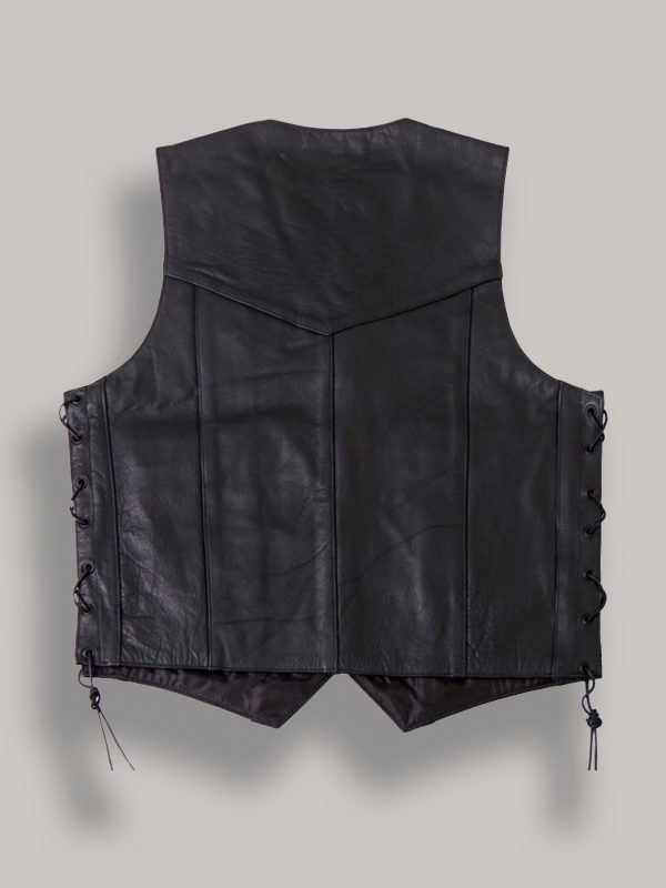 men real leather vest