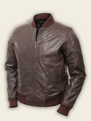 trending men brown bomber jacket