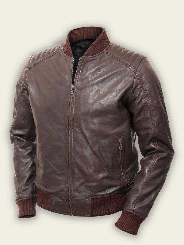 trending men brown bomber jacket