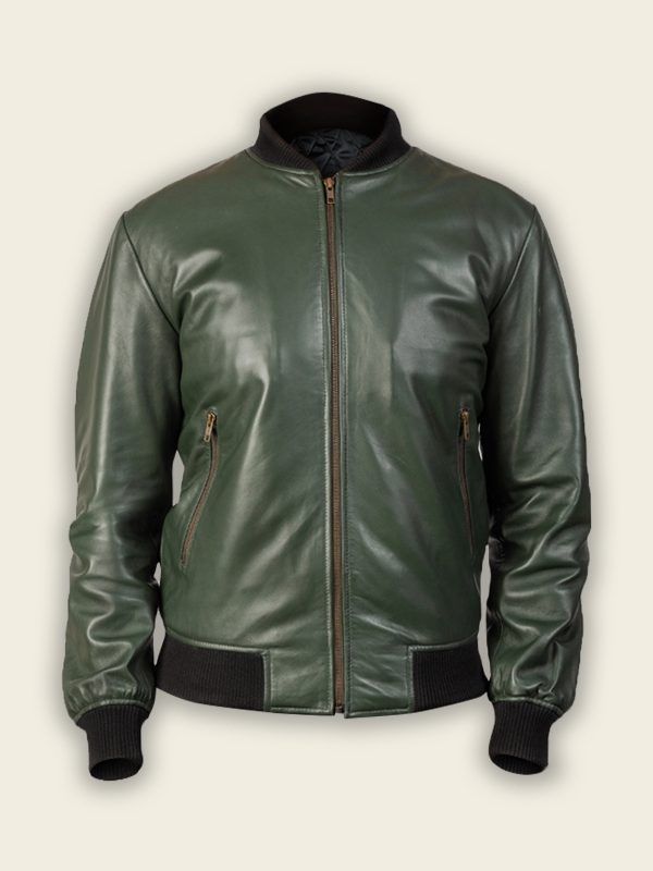 stylish green bomber jacket for men