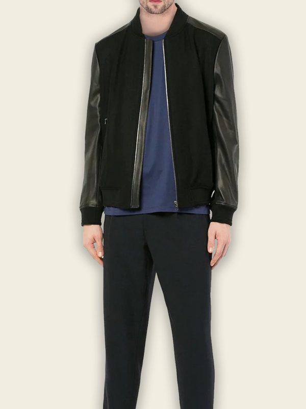 men black bomber jacket