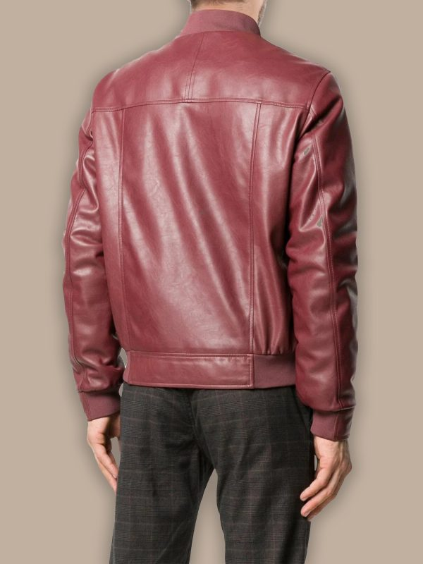 men red bomber jacket