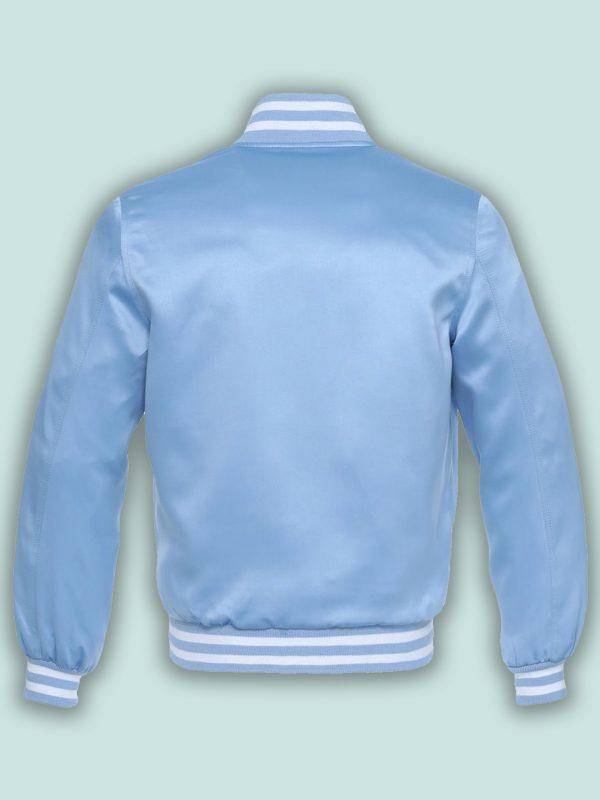 stylish blue varsity jacket