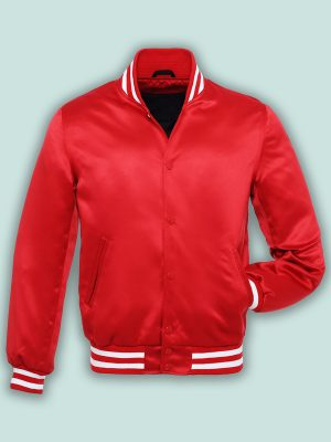 pure red varsity jacket