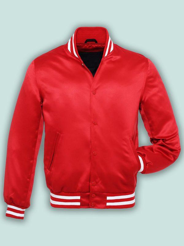 pure red varsity jacket