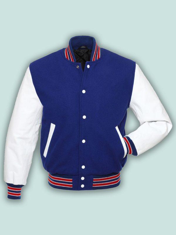 trending men blue wool jacket