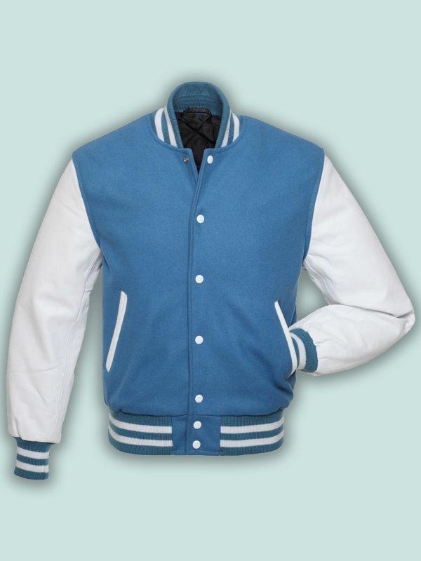 trending men blue varsity jacket