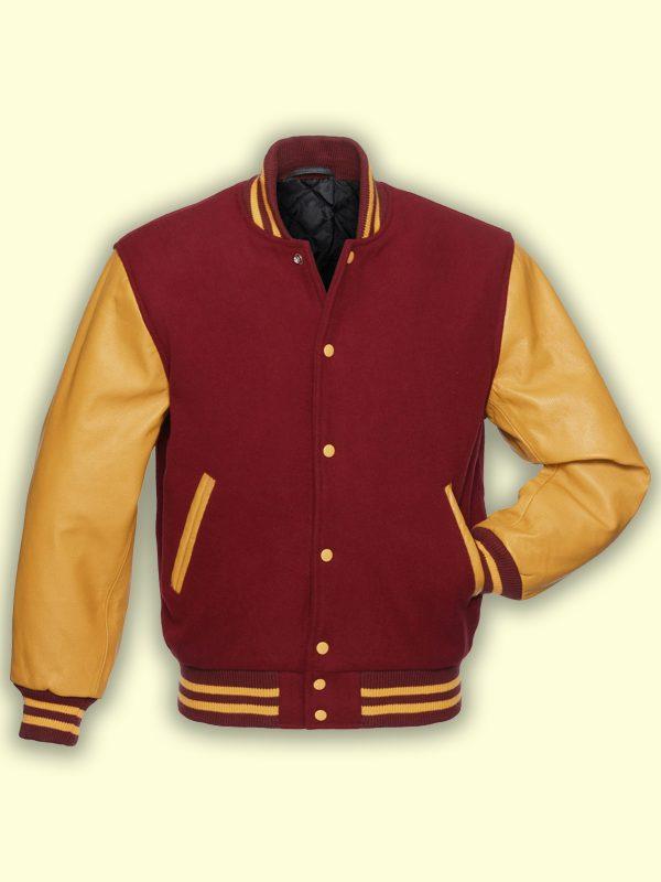 men wool varsity jacket
