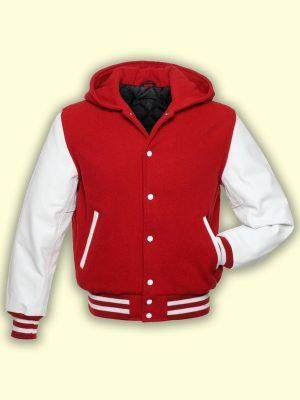 men red varsity jacket