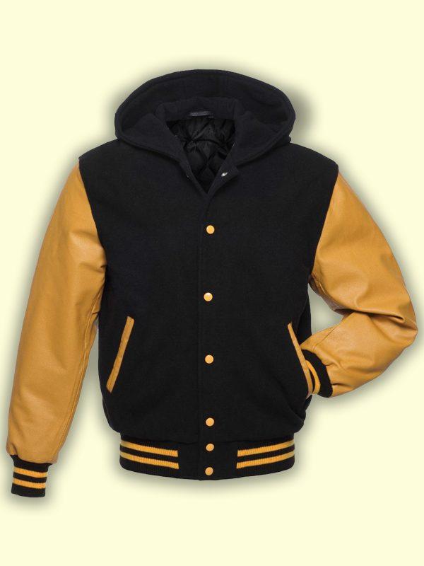 men black yellow varsity jacket