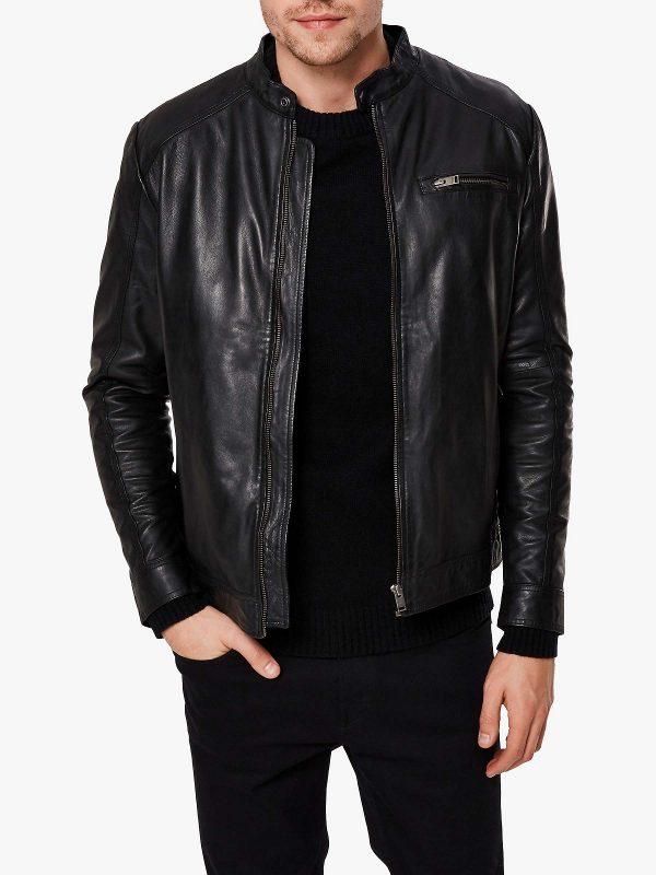 majestic black jacket for men