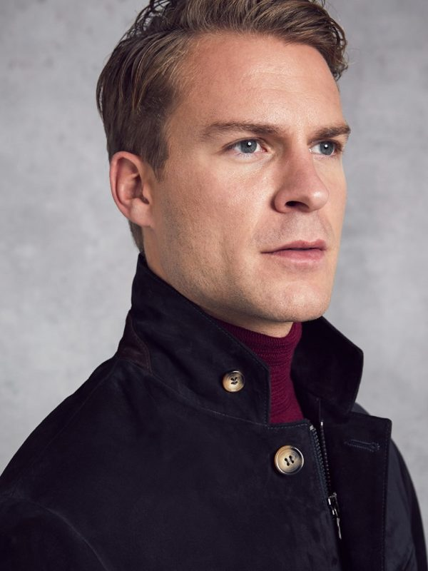 stylish men black suede jacket
