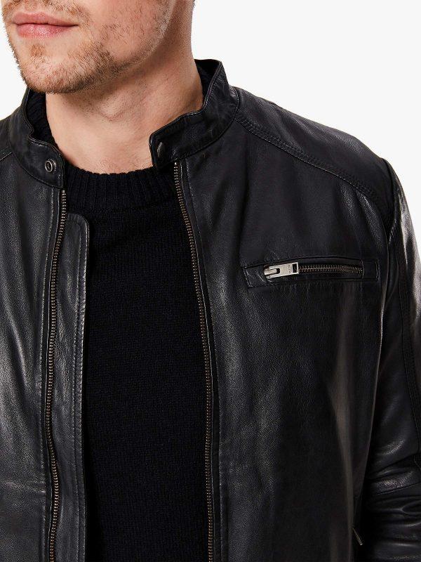 stylish men leather jacket