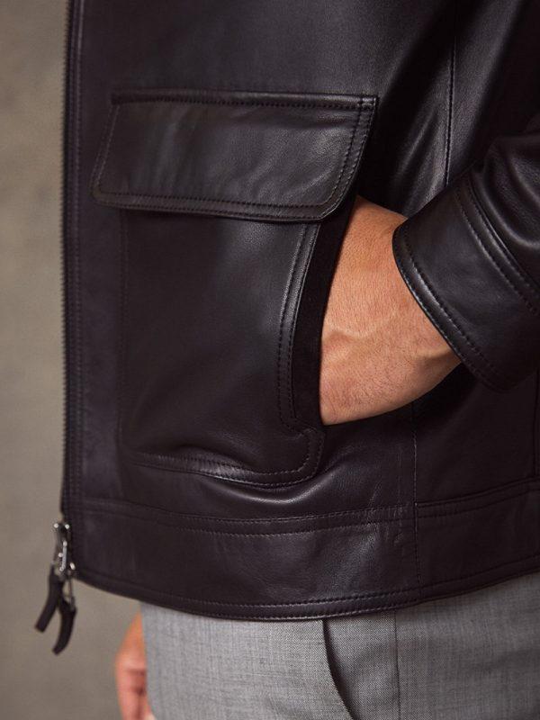 fashionable leather jacket for men