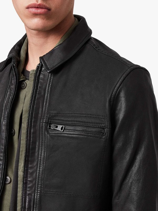 men jet black jacket