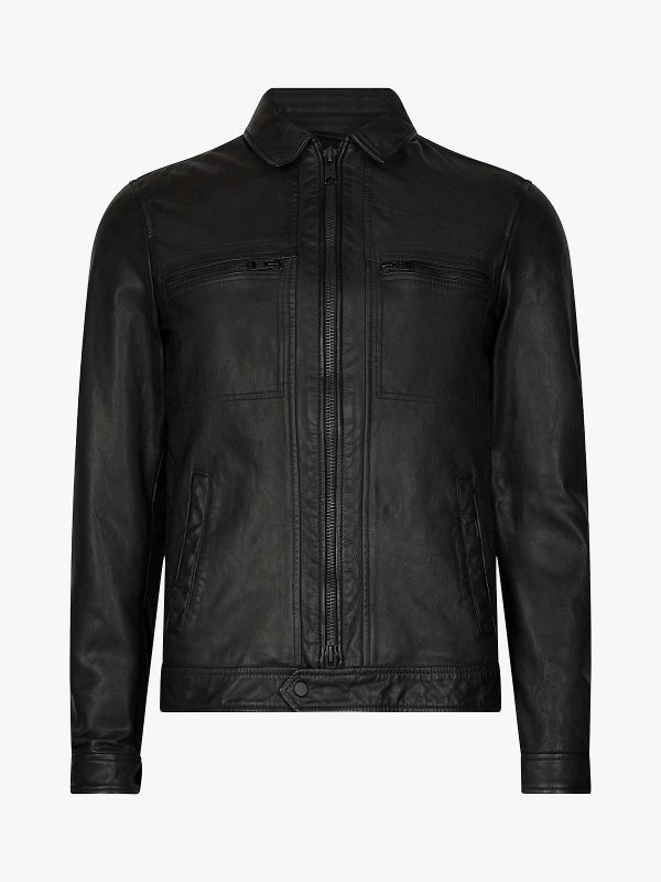 stylish men leather jacket