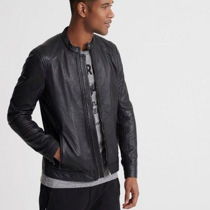 stylish men black jacket
