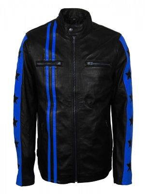 stylish men blue stripes jacket