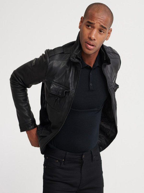 men old detective leather jacket