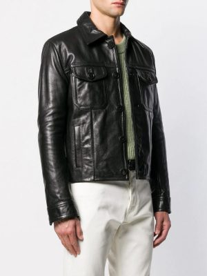classic men black jacket